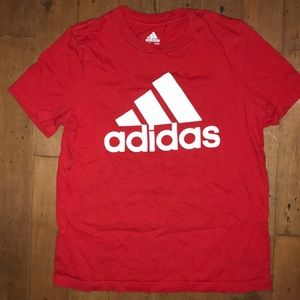 Adidas red tee
